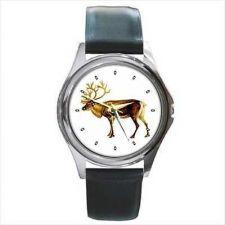 Buy Reindeer Art Unisex Round Wrist Watch New