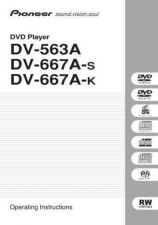 Buy Pioneer 10326743 Operating Instructions DV-563A-S by download Mauritron #223198