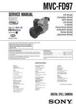 Buy Sony MVC-FD97 lev1 Service Manual. by download Mauritron #243021