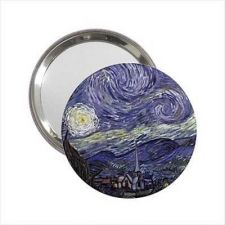 Buy Starry Starry Night Van Gogh Round Handbag Purse Mirror