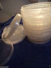 Buy Deli container+ lid 25 in volume 250 cc suitable for freezer,to With lock food