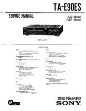 Buy Sony TA-E90ES Service Manual by download Mauritron #233341