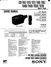 Buy Sony CCD-TR78-88-98-99-514-590-614-714-814 Service Manual by download Mauritron