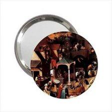 Buy Dutch Proverbs Bruegel Art Round Handbag Purse Mini Mirror