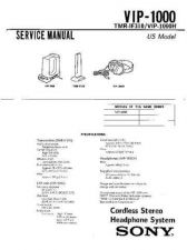 Buy Sony VIP-1000 Service Manual by download Mauritron #241932