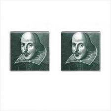 Buy William Shakespeare Theater Art Mens Square Cufflinks