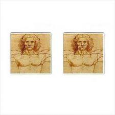 Buy The Vitruvian Man Leonardo da Vinci Square Cufflinks