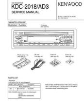 Buy KENWOOD KDC-2018 AD3 Technical Information by download #118632