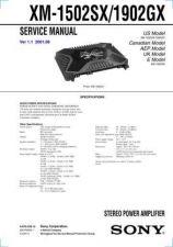 Buy Sony XM-1502SX1902GX Service Manual. by download Mauritron #245950