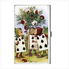 Buy Alice In Wonderland Business Credit Card Holder Painting Roses Red Art