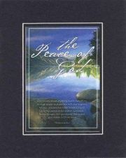 Buy Inspirational Plaque - The Peace of God Phillippians 4:6-7 Blk-On-Gold Dble Mat