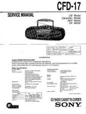 Buy Sony CFD-17. Service Manual by download Mauritron #238688