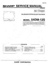 Buy Sharp 54DM12S (1) Service Manual by download Mauritron #207836
