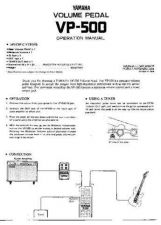 Buy Yamaha VP500 EN(1) Operating Guide by download Mauritron #205540