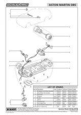 Buy Scalextrix No.431B Aston Martin DBS Service Sheets by download Mauritron #20660
