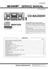 Buy Sharp CDBA3100 Service Manual by download Mauritron #208427