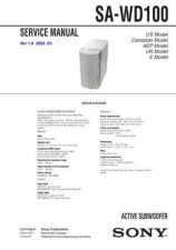 Buy Sony SA-W505 Technical Manual. by download Mauritron #243767