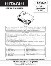 Buy Hitachi PJTX10E_DA Service Manual by download Mauritron #263789