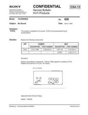 Buy SONY TA-E9000ES BULLETINS Manual by download Mauritron #230467