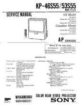 Buy Sony KP-46S25 Manual by download Mauritron #229342