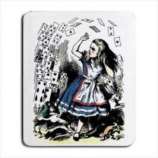 Buy Alice In Wonderland Falling Cards Tinted Computer Mouse Pad
