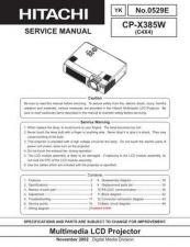 Buy Hitachi CP-X445W(C11XM) Service Manual by download Mauritron #261127