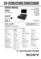 Buy Sony GV-D200D200ED800D800E.. Service Manual by download Mauritron #240833