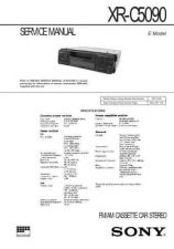 Buy SONY XR-C6120 Technical Info by download #105367