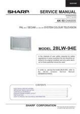Buy Sharp 28LW94E (1) Service Manual by download Mauritron #207591