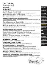 Buy Hitachi PJ-LC5 ZH Manual by download Mauritron #225413