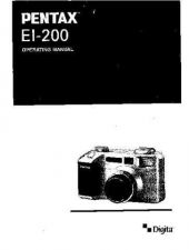 Buy PENTAX EI200 CAMERA INSTRUCTIONS by download #119032
