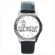 Buy Earth Worm Unisex Round Wrist Watch