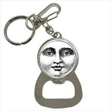 Buy Moon Face Vintage Style Art Keychain Bottle Opener