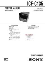 Buy SONY ICFC135 Technical Info by download #104747
