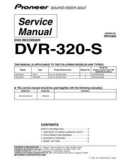Buy Pioneer DVR-RT602 Service Manual by download Mauritron #234538