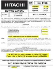 Buy Hitachi 50V500A- -LC37E- 60VX500 -LC3F Service Manual by download Mauritron #260364