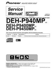 Buy Pioneer deh-p9450mp-3 Service Manual by download Mauritron #233877