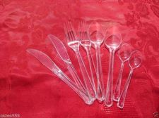 Buy 20X4 Silver'/IVORY'/CLEAR'/GOLD Premium Heavy Duty Plastic Wedding Party Cutlery