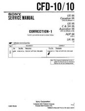 Buy Sony CFD-10.. Service Manual by download Mauritron #238667
