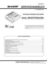 Buy Sharp MDMT270H SM DE(1) Service Manual by download Mauritron #210050