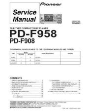 Buy Pioneer PD-F1009 Service Manual by download Mauritron #234677