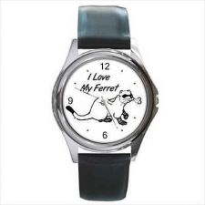 Buy I Love My Ferret Pet Unisex Art Watch Round NEW