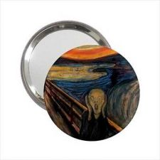 Buy The Scream Edvard Munch Art Round Handbag Purse Mirror