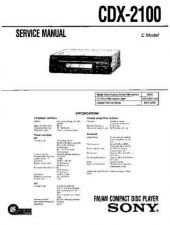 Buy Sony CDX-2100-EXCD-21 Service Manual by download Mauritron #237432