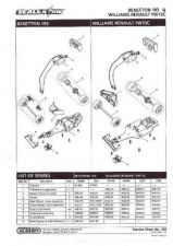Buy Scalextrix No.309 Benetton 193 and Williams Renault FW15C Service Sheets by dow