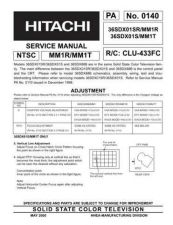 Buy Hitachi 36SDX01S Service Manual by download Mauritron #207223