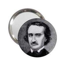 Buy Edgar Allan Poe Round Handbag Purse Mini Mirror