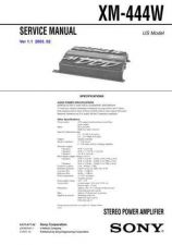 Buy Sony XM-444W. Service Manual. by download Mauritron #245994