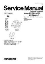 Buy Panasonic tg9345bp_71131_2 Service Manual by download Mauritron #269120
