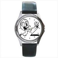 Buy Bowling Man Retro Style Image Unisex Round Wrist Watch